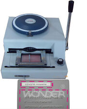 2 in 1 75CE Manual PVC Embosser ID Card Embossing & Indenting Print Machine