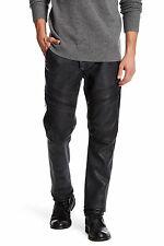 Helmut Lang Genuine Black Stretch Leather Moto Racing Trouser Pant 31