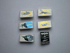 Vintage USSR Aviation Soviet Airplains Russia Sitall Glass Ceramic Pin Badges