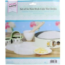 250pc Circle Cake Tin Liners Non Stick Round Grease Proof Baking Paper Assorted