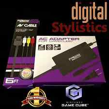 AC Adapter Power Supply & AV Cable Cord (Nintendo Gamecube) NIB (NEW) Bundle lot