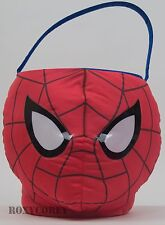 Marvel Red Black Ultimate Spider-man Plush Jumbo Basket + 3 Treat Container