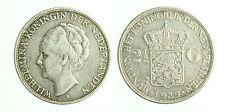 pcc1800_1) Netherlands  Wilhelmina - 2 1/2  Gulden 1929  Silver