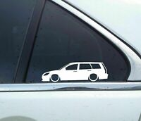 2X Lowered car outline stickers -for Mitsubishi Lancer station wagon 2000–2007