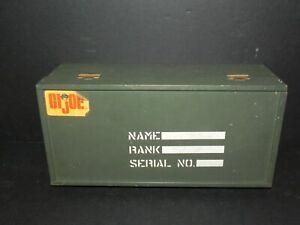 "G.I. JOE 12"" 1960s WOODEN FOOT LOCKER with TRAY - VINTAGE - Free Shipping!"