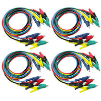 20 Insulated Test Cable Leads Double-ended Crocodile Clips Test Jumper Wire