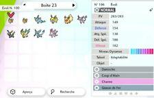 Pack Evolution Evoli - 9 Pokémon Shiny 6IV -Battle Ready- Pokémon Epée/Bouclier