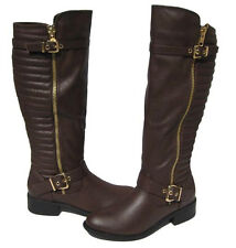 New Women's Fashion Boots Brown Knee High Shoes Winter Snow Ladies size 8.5