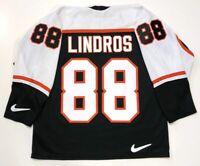 ERIC LINDROS PHILADELPHIA FLYERS BLACK 1997 NIKE JERSEY LARGE