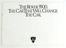 Rover 3500 V8 8 page factory sales brochure
