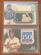 2019 Topps Baseball Commemorative Patch Lot (2) ALBIES/PEREZ Series One/Two
