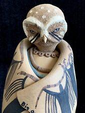 "Susi Nagoda Bergquist signed ceramic ""Big Owl"" figure ~ Native American"