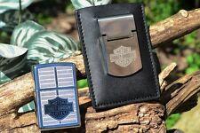 Harley Davidson Zippo Lighter Money Clip & Card Holder Set - Bar & Shield 20239