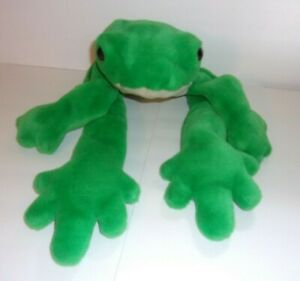 """Small of the Wild Wildlife Artists Plush Green Frog Large Eyes 25"""" Vintage 1995"""