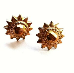 Gorgeous Secondhand  9ct Yellow Gold Hollow Star Mandala Stud earrings