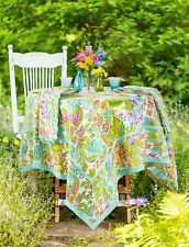 April Cornell Tablecloth Jungle Bright Collection 36x36 NWT 100% Cotton Mulit