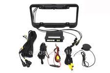 Farenheit LP-2CSB Black License Plate Rear Night View Camera Proximity Sensor