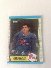 Joe Sakic HOF HAND SIGNED 1989 Topps Rookie Card w/COA RARE