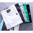 Hot Men's Bape Monkey Head Pattern Round Neck A Bathing Ape T-Shirt  Fashion
