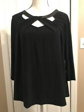 Black Long Sleeve Top Size Large