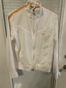 Nike Orange & White Full Zip Running Athletic Jacket