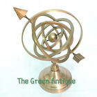 Antique Brass Armillary Globe Vintage Collectible Decorative Gift