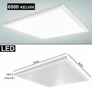 40 W LED Decken Ein Aufbau Panel Lampe Büro Arbeits Zimmer kaltweiß Leuchte SLIM