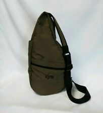 LL Bean Traveler AMERIBAG Bag Nylon Padded Sling Healthy Back Slingbag initialed