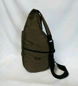 LL Bean Traveler AMERIBAG Bag Nylon Padded Sling Healthy Back Slingbag initialed