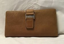 RFID Checkbook Clutch Womens Wallet Boconi Leather In Toast SRP $98