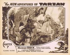 NEW ADVENTURES OF TARZAN 1935 Herman Brix Chapter 7 VINTAGE SERIAL Lobby Card 6