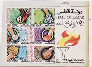 Qatar mnh stamp s/s sc#308a oympics 1972