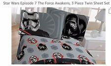 Disney Star Wars Gray Black Red Episode 7 Twin Sheet Set 3pc Jay Franco New