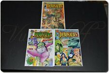 Malibu Comics - Dinosaurs For Hire, 1993 Series, # 1- 3 with Bags & Boards, Ex