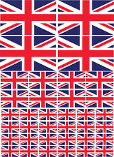 UNION JACK / GREAT BRITAIN FLAG MULTI PACK VINYL STICKERS - Various Sizes