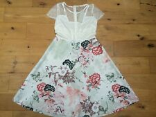 BNWT NEXT Stunning Floral White Skater Lace Party Dress @ Size 10 NEW Cocktail