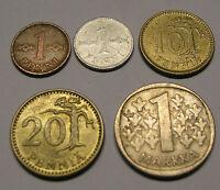 Münze Finnland 1 Penni 10 20 Pennia 1 Markka Mark 1963-1981 Finland Suomi