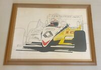 MICHEL RAIMON hand signed Alain Prost large artist proof Lithograph Formula 1