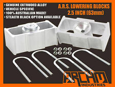 "FORD AU/BA/BF/FG FALCON 2.5"" INCH (63mm) REAR LOWERING BLOCKS (ALL MODELS)"