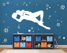 Wandaufkleber: Torwart +Name Fußballer Kinderzimmer Aufkleber Fußball WandTattoo