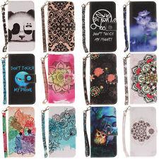 Tarjeta de cuero de moda de lujo Abatible Billetera Estuche De pie Cubierta Petaca Para Varios Teléfonos