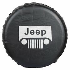 PVC Leather Spare Wheel Tire Cover For Jeep RV Liberty WranglerR16(79cm/31.1in)