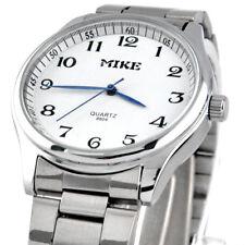 Excellent Classic Stainless Steel Men's Man Quartz MOVT Wrist Watch