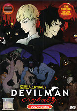 Devilman Crybaby DVD Complete 1-10 (UNCUT VER) - English Audio USseller ShipFAST