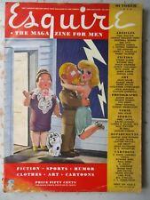 Esquire Magazine - October 1943 Issue, WWII Print, Varga Print