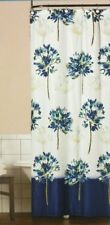 Fabric Shower Curtain Floral Blue Medley 70x72