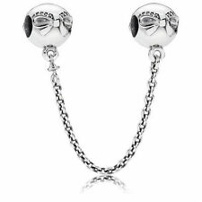 Authentic Pandora Dainty Bow Clear CZ Safety Chain 791780CZ CHARM Bead