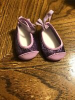 American Girl Doll Chrissa's Purple Meet Flats Shoes EUC RETIRED