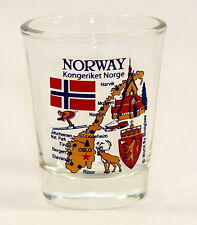 NORWAY LANDMARKS AND ICONS COLLAGE SHOT GLASS SHOTGLASS