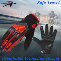 Summer Leather Motorcycle Motorbike Gloves Short Knuckle Protection Full Finger